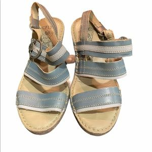 Fly london salm sling back wedge sandals